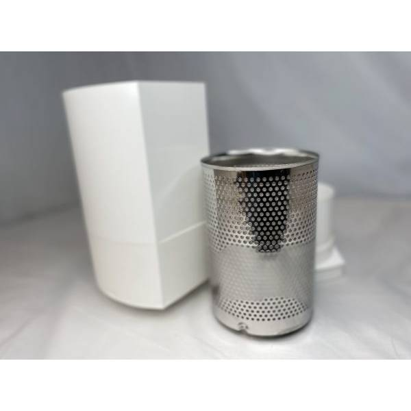 Downapout Rainwater Prefilter with smoothing inlet